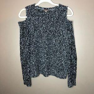 Lilla P cold shoulder sweater
